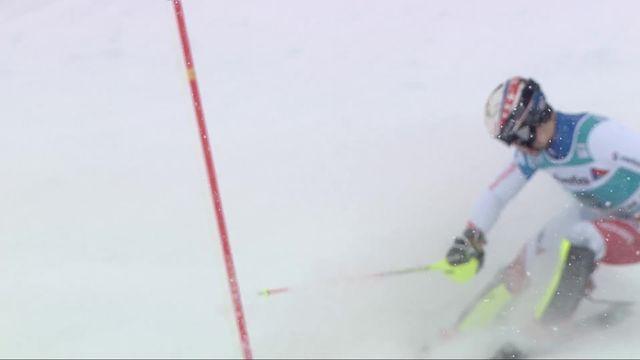 Adelboden (SUI), slalom messieurs 1re manche: Loic Meillard (SUI) [RTS]