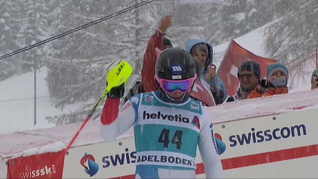 Adelboden (SUI), slalom messieurs 1re manche: Tanguy Nef (SUI) [RTS]
