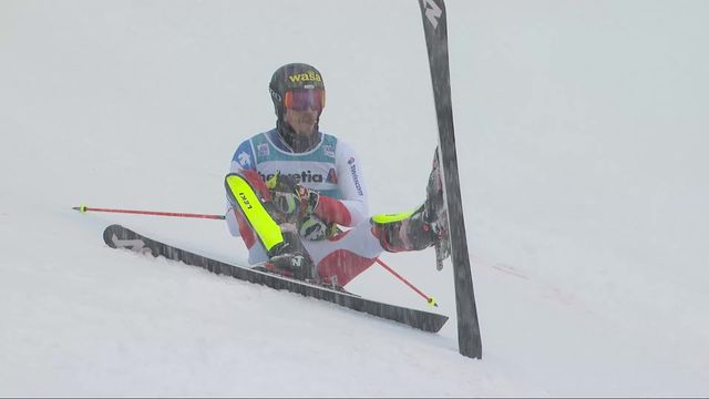 Adelboden (SUI), slalom messieurs 1re manche: Marc Rochat (SUI) [RTS]