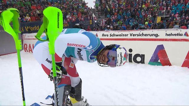 Adelboden (SUI), slalom messieurs 1re manche: Luca Aerni (SUI) [RTS]