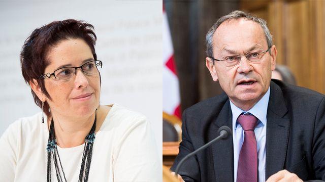 Isabelle Chevalley, conseillère nationale (Vert'libérale/VD), et Olivier Français, conseiller aux Etats (PLR/VD).