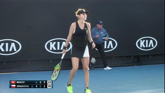 Open d'Australie, 1er tour : Bencic (SUI) - Siniakova (CZE), 6-4 2-6 6-3 [RTS]