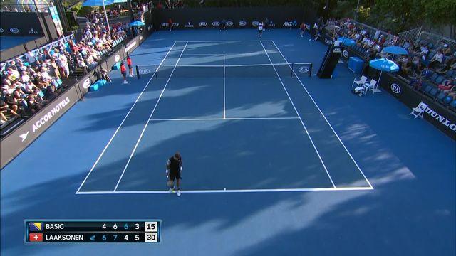 Open d'Australie, 1er tour : Basic (BOS) - Laaksonen (SUI), 4-6, 6-7, 6-4, 3-6 [RTS]
