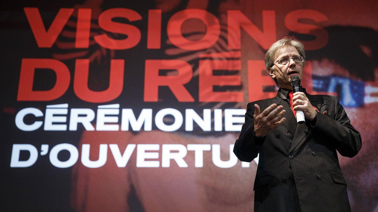 Claude Ruey lors de la cérémonie d'ouverture du festival Visions du Réel 2014. [Valentin Flauraud - Keystone]
