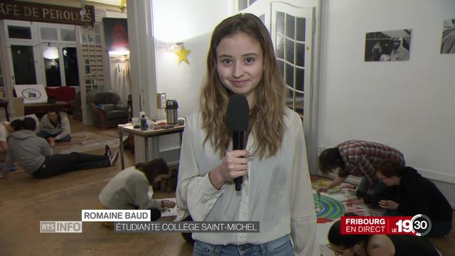 Romaine Baud, étudiante, explique pourquoi les jeunes veulent combattre l'inaction dans le dossier climatique. [RTS]