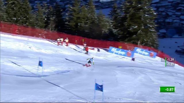 Kronplatz (ITA), géant dames 2e manche: Mikaela Shiffrin (USA) [RTS]
