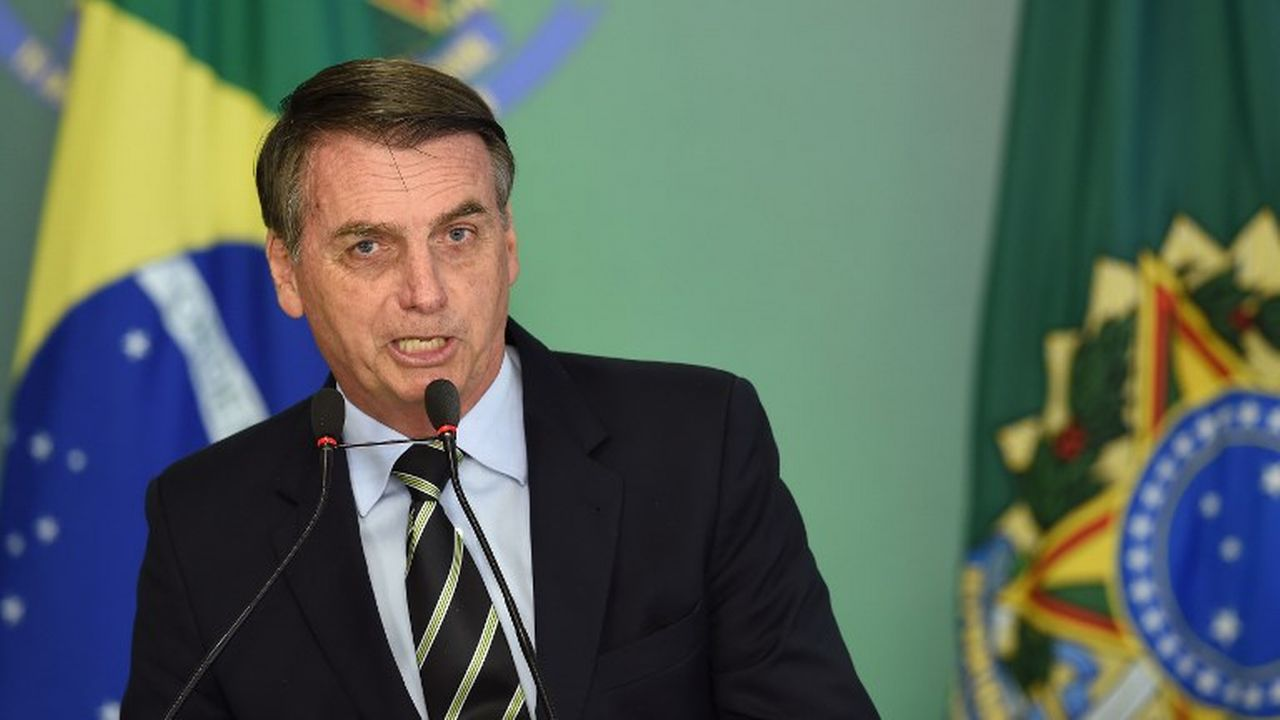 Le président du Brésil Jair Bolsonaro. [Evaristo Sa - AFP]