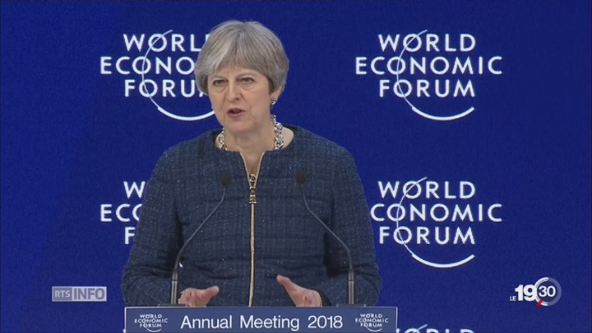 WEF: Theresa May en 2018.