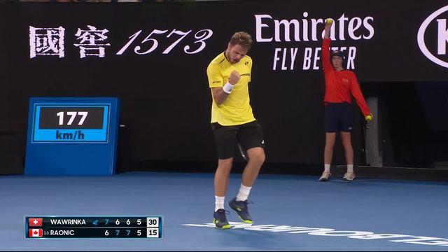 2e tour: le meilleur de Stan Wawrinka (SUI) lors de sa défaite face à Milos Raonic (CAN) (7-6 6-7 6-7 6-7) [RTS]