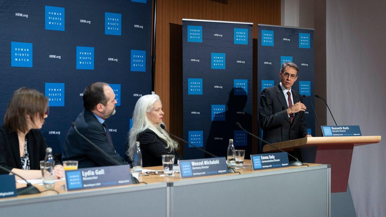 La résistance contre les tendances autoritaires augmente dans le monde, selon Human Rights Watch. [Alexander Becher - EPA/Keystone]