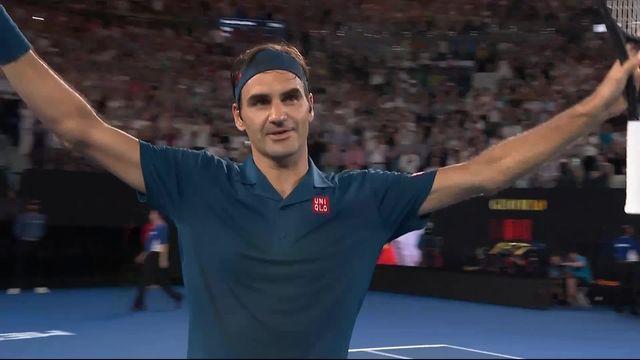 3e tour, T. Fritz (USA) battu par R. Federer (SUI) 2-6 5-7 2-6: victoire avec la manière pour Roger face à Taylor Fritz [RTS]