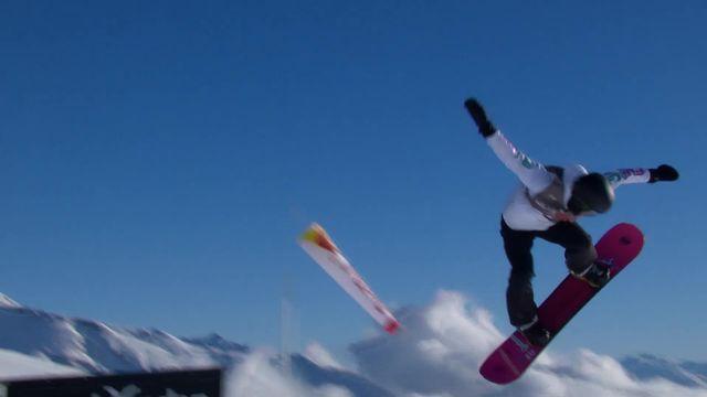 Laax (SUI), snowboard slopestyle messieurs: Nicolas Huber (SUI) qualifié de justesse avec la 11ème place en ½ finale [RTS]