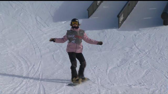 Laax (SUI), snowboard slopestyle dames:Celia Petrig (SUI) termine deuxième [RTS]