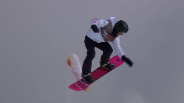 Laax (SUI), snowboard slopestyle messieurs: Nicolas Huber (SUI) à la 5ème place [RTS]