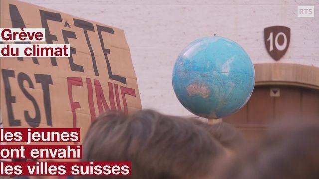 Grève du climat: les jeunes ont envahi les villes suisses [RTS]