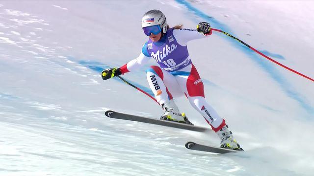 Cortina d'Ampezzo (ITA), descente dames: Corinne Suter (SUI) [RTS]