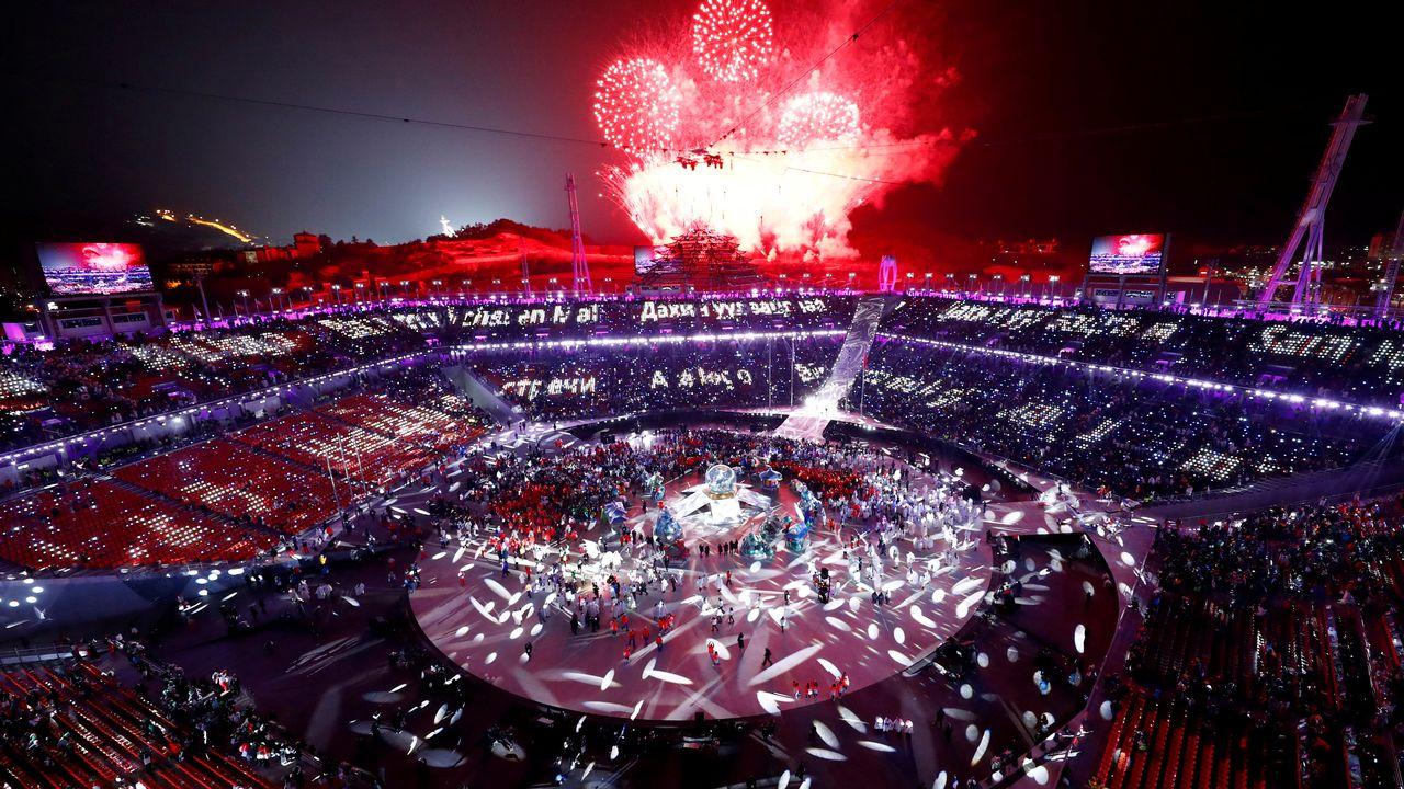 Cérémonie de fermeture des Jeux olympiques d'Hiver de Pyeongchang 2018. [Pawel Kopczynski - REUTERS]