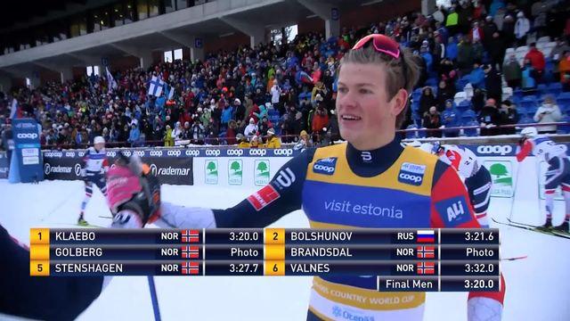 Otepää (EST), sprint messieurs: Johannes Klaebo (NOR) s'impose devant Bolshunov (RUS) et son compatriote Golberg [RTS]