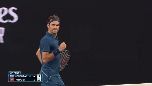 8e, S. Tsitsipas (GRE) - R. Federer (SUI) 6-7: le Bâlois remporte le tie break 13-11 [RTS]