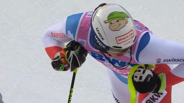 Wengen (SUI), slalom messieurs 1re manche: Ramon Zenhaeusern (SUI) [RTS]