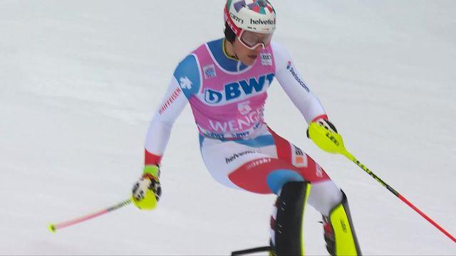Wengen (SUI), slalom messieurs 1re manche: Daniel Yule (SUI) [RTS]