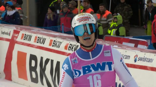 Wengen (SUI), slalom messieurs 1re manche: Loic Meillard (SUI) [RTS]