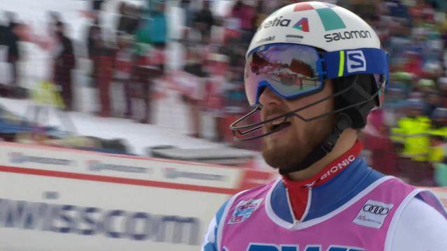 Wengen (SUI), slalom messieurs 1re manche: Luca Aerni (SUI) [RTS]
