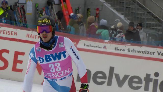 Wengen (SUI), slalom messieurs 1re manche: Marc Rochat (SUI) [RTS]