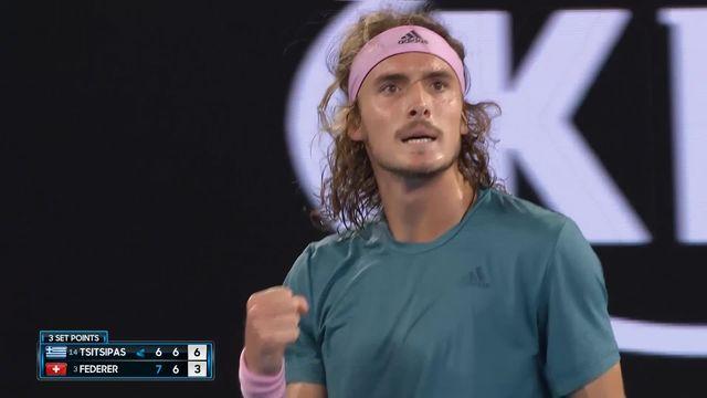 8e, S. Tsitsipas (GRE) - R. Federer (SUI) 6-7, 7-6 [RTS]
