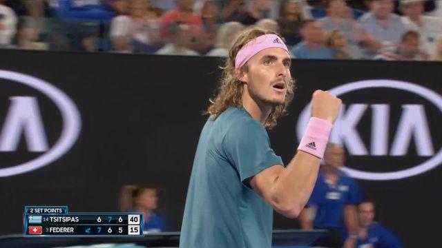 8e, S. Tsitsipas (GRE) - R. Federer (SUI) 6-7, 7-6, 7-5 [RTS]