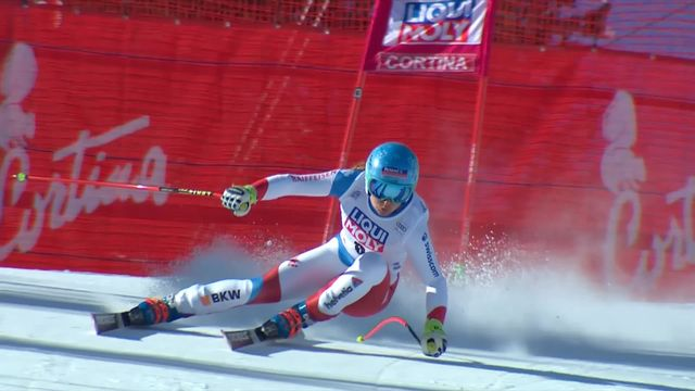 Cortina d'Ampezzo (ITA), Super G dames: Jasmine Flury (SUI) [RTS]