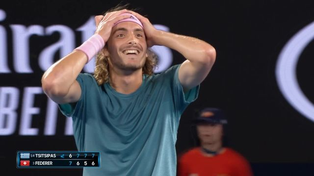 8e, S. Tsitsipas (GRE) - R. Federer (SUI) 6-7 7-6 7-5 7-6 [RTS]