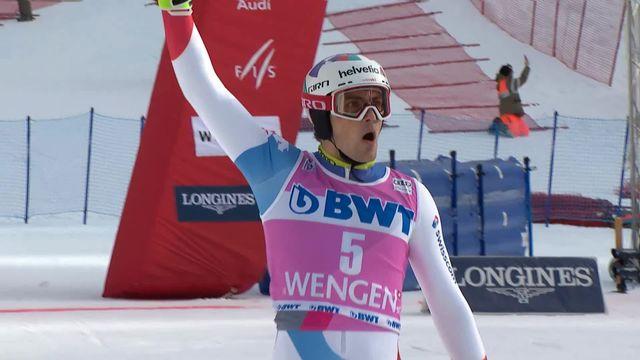Wengen (SUI), slalom messieurs 2e manche: Daniel Yule (SUI) [RTS]