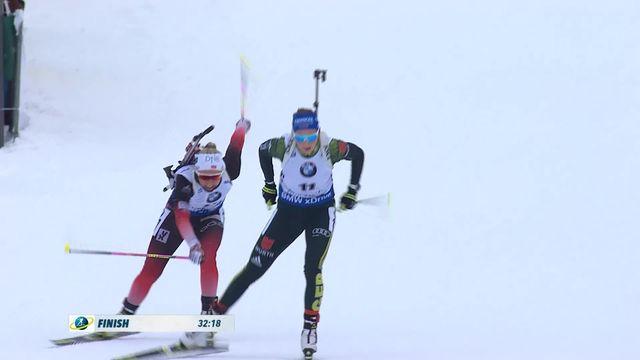 Ruhpolding (GER), départ en ligne dames: victoire de Preuss (GER), Haecki (SUI) termine 5e [RTS]