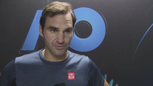 Open d'Australie: Federer à l'interview après sa défaite en 8es contre Tsitsipas [RTS]