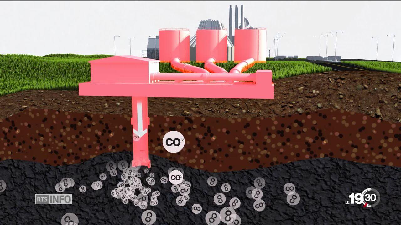 Enfouir le CO2 pour sauver le climat. [RTS]