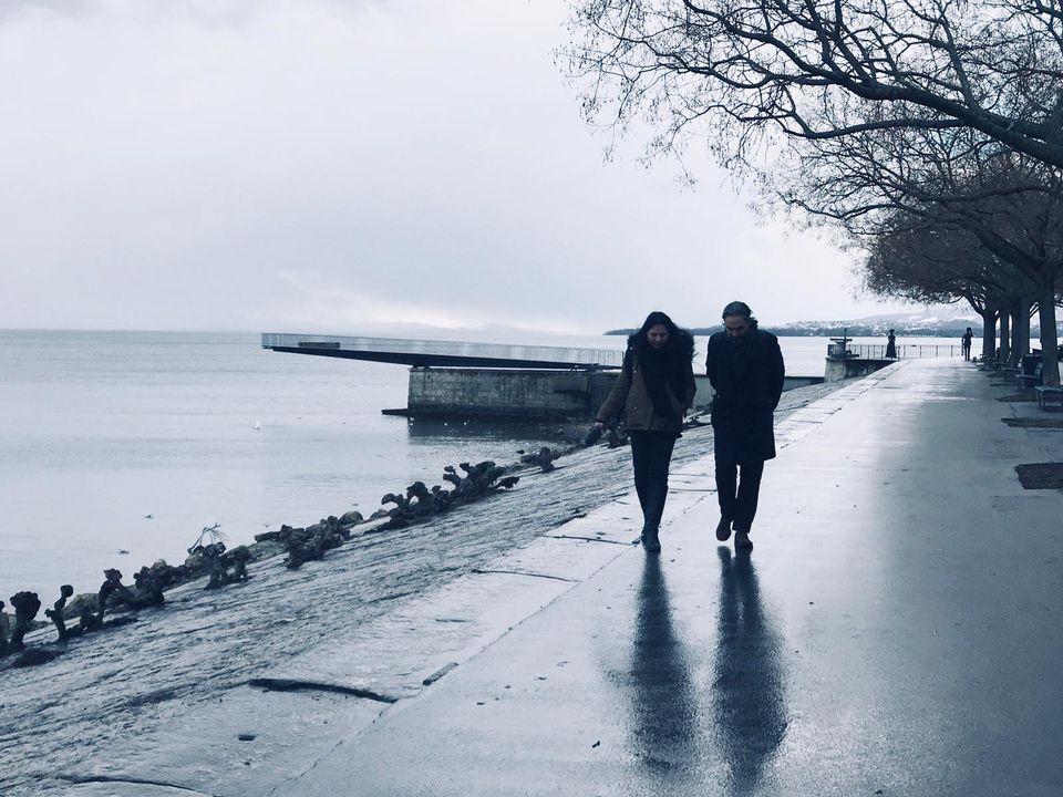 Karine Vasarino et Stephan Eicher au bord du lac de Neuchâtel. [Aurélie Perrod - Opus One]