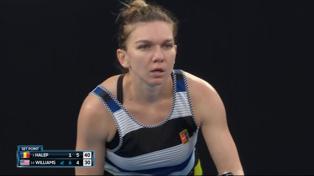 8e, S. Halep (ROU) – S. Williams (USA) 1-6, 6-4: Halep revient à un set partout [RTS]
