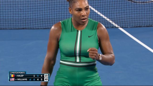 8e, S. Halep (ROU) – S. Williams (USA) 1-6 6-4 4-6: Serena sort la numéro 1 mondiale en trois sets [RTS]