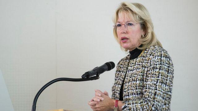 Jacqueline de Quattro, cheffe du Service du développement territorial. [Adrien Perritaz - KEYSTONE]