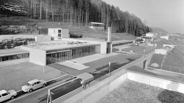 La centrale expérimentale de Lucens (VD) en 1969. [GASSMANN/PHOTOPRESS-ARCHIV - Keystone]