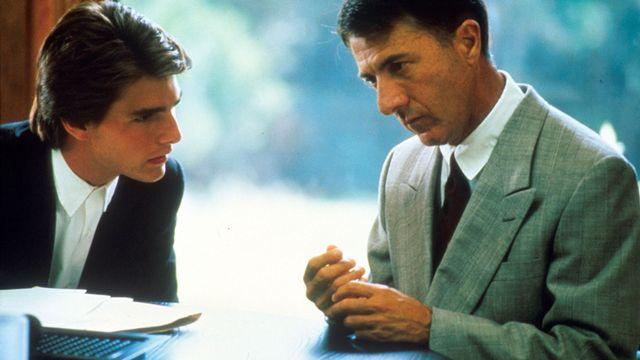 """Une scène du film """"Rain Man"""" avec Dustin Hoffman et Tom Cruise. [Archives du 7eme Art - AFP]"""