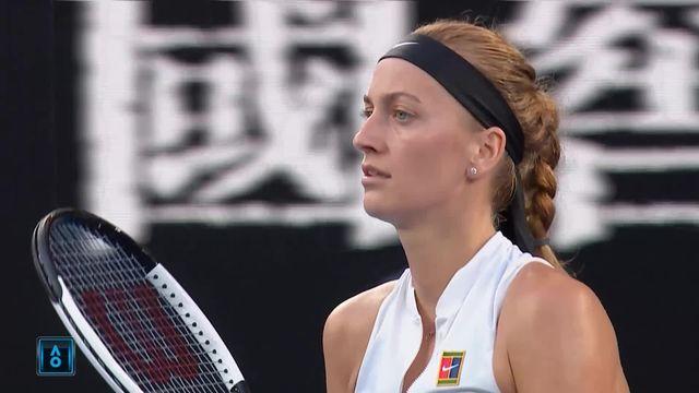 1-4 de finale, P. Kvitova (CZE) – A. Barty (AUS) 6-1: premier set facile pour la Tchèque [RTS]