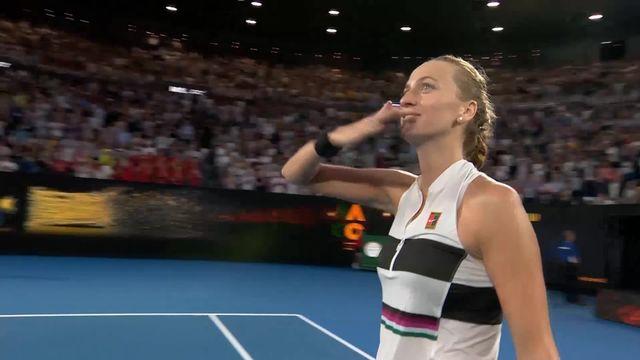 1-4 de finale, P. Kvitova (CZE) – A. Barty (AUS) 6-1 6-4: Kvitova passe en deux manches et affrontera Danielle Collins en demi [RTS]