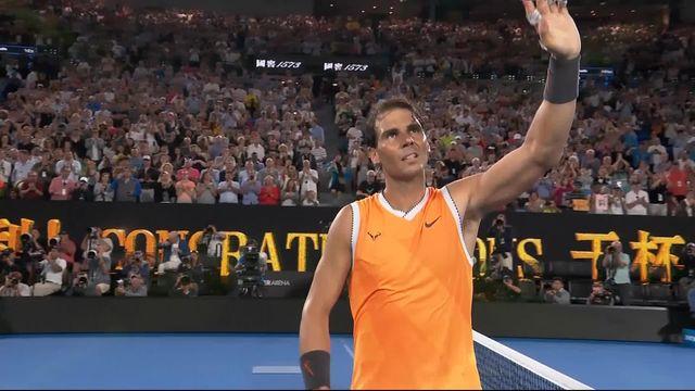 1-4 de finale, F. Tiafoe (USA) battu par R. Nadal (ESP) 3-6 4-6 2-6 qui affrontera Tsitsipas en demi [RTS]