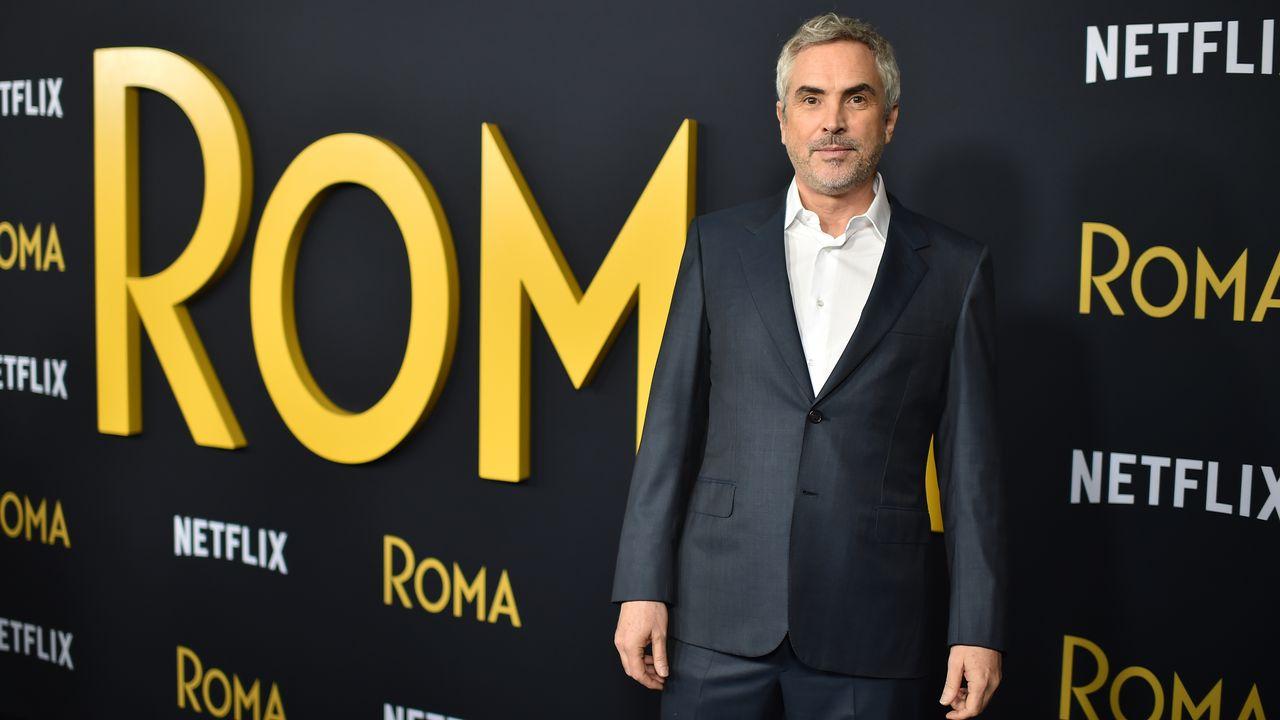 """Le réalisateur mexicain de """"Roma"""", Alfonso Cuarón, le 22 janvier 2019 à Hollywood. [ROBYN BECK -  AFP]"""