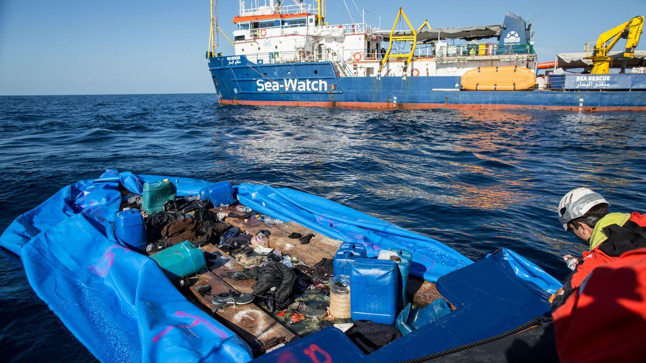 Le Sea-Watch 3 a porté secours à l'embarcation en difficulté en Méditerranée centrale. [Federico Scoppa - AFP]