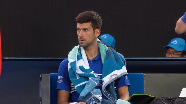 1-4 de finale, N. Djokovic (SRB) – K.Nishikori (JPN) 6-1: première manche facile pour le numéro 1 mondial [RTS]