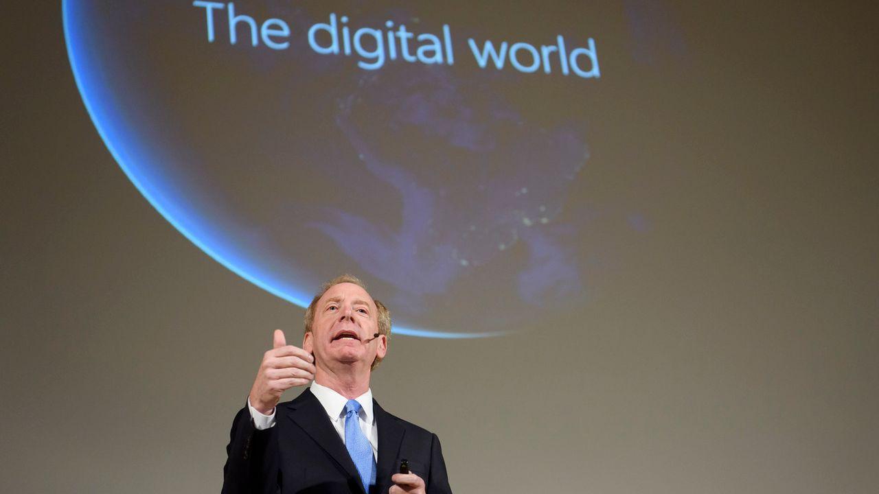 Le président du groupe Microsoft, Brad Smith. [Martial Trezzini - Keystone]