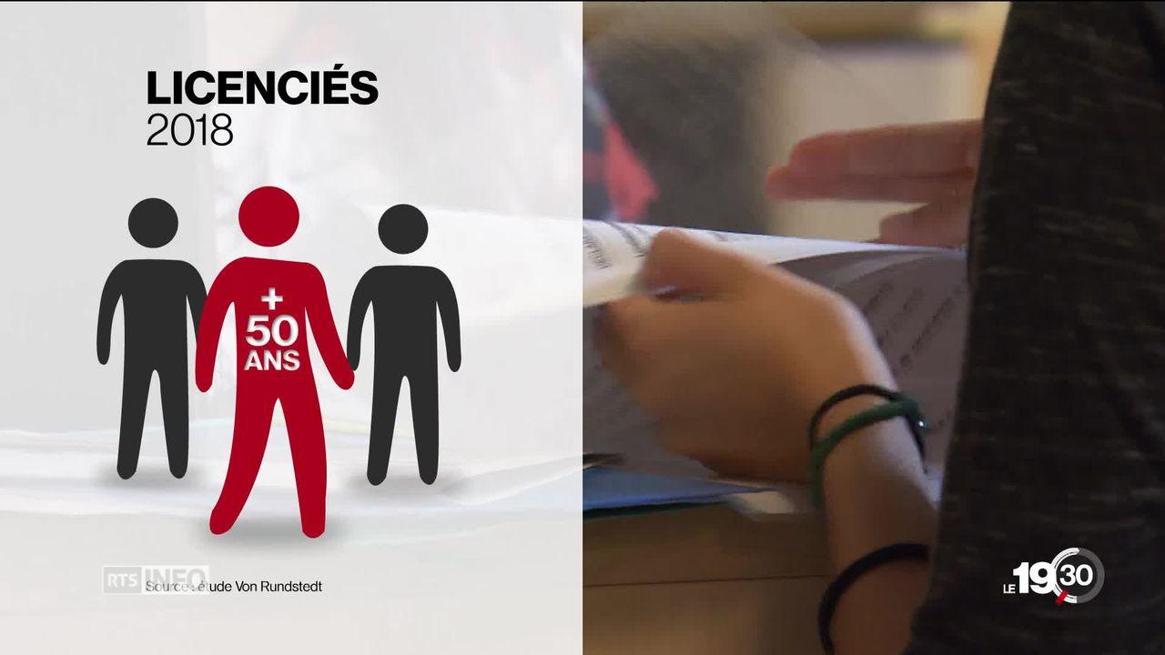Chômage des plus de 50 ans: dans les entreprises les seniors sont les premiers à être licenciés. [RTS]